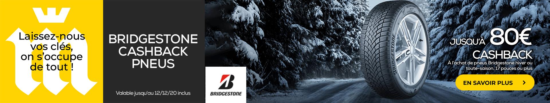 Cashback Pneus Bridgestone