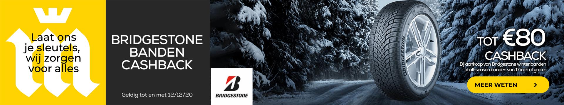 Bridgestone Cashback Actie
