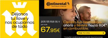 COMPRA NEUMÁTICOS CONTINENTAL Y LLÉVATE HASTA 80€ EN GASOLINA