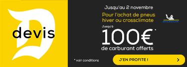 Pneus MICHELIN CROSSCLIMATE&HIVER : Jusqu'à 100€ de Carburant Offerts